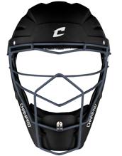 Picture of Optimus Pro Rubberized Matte Finish Hockey Style Catcher's Headgear Adult 7-7 1/2 BLACK