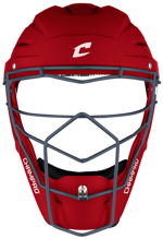 Picture of Optimus Pro Rubberized Matte Finish Hockey Style Catcher's Headgear Youth 6 1/2-7 SCARLET