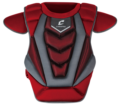 "Picture of Optimus Pro Chest Protector Intermediate 15.5"" SCARLET"