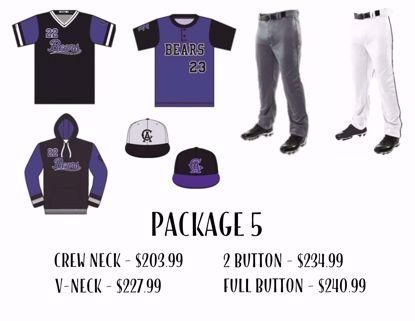 Picture of Baseball Uniform Package 5