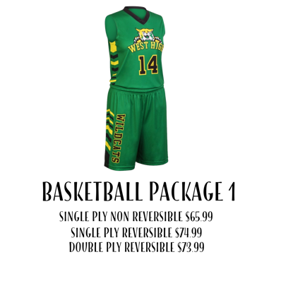 Picture of Basketball Uniform Package 1