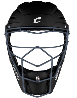 Picture of Optimus Pro Rubberized Matte Finish Hockey Style Catcher's Headgear Adult 7-7 1/2