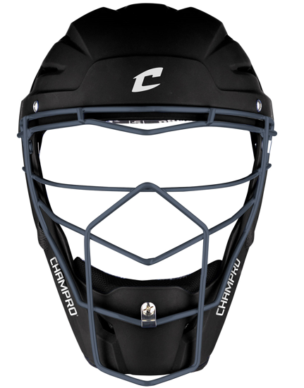 Picture of Optimus Pro Rubberized Matte Finish Hockey Style Catcher's Headgear Youth 6 1/2-7